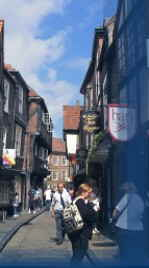 Historic street in York City Centre